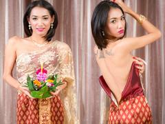 ฝรั่งxxxเย็ดตูดกระเทยสาวไทยใส่ชุดไทยถือกระทงที่คอนโดในวันลอยกระทง