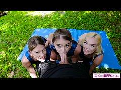 หนุ่มดวงดีมาสอนออกกำลังกายแต่เจอสามสาวสวยรุมเย็ดสวิงกิ้ง 3ต่อ1 เสียวซื้ด