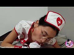 พยาบาลสาวส่วนตัวสุดเอ็กบริการเย็ดเสียวน้ำแตกเต็มปากโคตรเด็ด