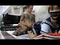 รีปมาดูคลิปหลุดดังไอ้หนุ่มสักลายเอวดีกะสดเมียสาวคาชุดนักเรียนญี่ปุ่น